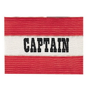 Champion Sports CAPRD Adult Captain Arm Band, Red/White