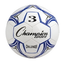 Champion Sports CH3BL Challenger Series Size 3 Soccer Ball, Royal/White