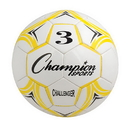 Champion Sports CH3YL Challenger Series Size 3 Soccer Ball, Yellow/White