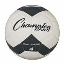 Champion Sports CH4BK Challenger Soccer Ball Size 4 Black/White