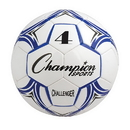 Champion Sports CH4BL Challenger Series Size 4 Soccer Ball, Royal/White