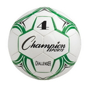 Champion Sports CH4GN Challenger Soccer Ball Size 4 Green/White