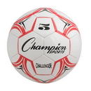 Champion Sports CH5RD Challenger Soccer Ball Size 5 Red/White