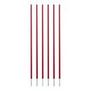 Champion Sports CS6RD Coaching Sticks Set Of 6 Red