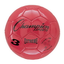 Champion Sports EX3RD Extreme Soccer Ball Size 3 Red