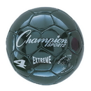 Champion Sports EX4BK Extreme Soccer Ball Size 4 Black