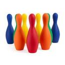 Champion Sports FBPINSETCLR Multi-Color Foam Bowling Pin Set
