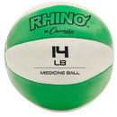 Champion Sports MB14 14-15lb Leather Medicine Ball