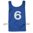 Champion Sports NP2BL Numbered Heavyweight Nylon Pinnie Blue