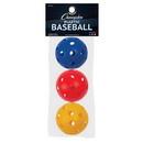 Champion Sports PLBBAR Plastic Baseball Retail Pack/3 Assorted Colors