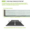 Champion Sports PN105 2 Inch Table Tennis Net & Post Set