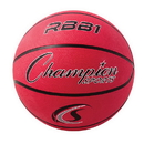 Champion Sports RBB1RD Pro Rubber Basketball, Red