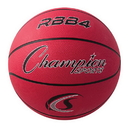 Champion Sports RBB4RD Pro Rubber Basketball, Red