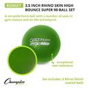 Champion Sports RS90 3.25 Inch Rhino Skin High Bounce Super 90 Foam Ball Green
