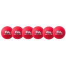 Champion Sports RXD6NRDSET 6 Inch Rhino Skin Low Bounce Dodgeball Set Neon Red