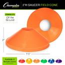 Champion Sports SCXYL Saucer Field Cone Yellow