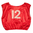 Champion Sports SVYWNRD Numbered Scrimmage Vest Youth Red