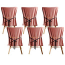 Muka Dining Chair Covers set of 6, Removable Chair Slipcovers
