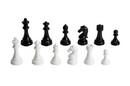 "CHH 2109B 4 1/4"" Black/White Chessmen"