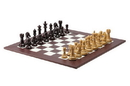 CHH 2109CS Burgundy and Blonde Chess set