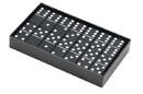 CHH 2411L-BLK Double 6 Black Jumbo Domino
