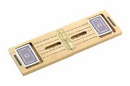 CHH 2428 Wooden Travel Cribbage & Card Set