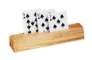 "CHH 2706 9"" 3 Slot Wooden Card Holder"