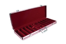 CHH 2797C 500 PC Pink Aluminum Poker Case