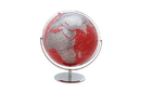 "CHH 93125-RD 12"" Red Globe With Silver Base"
