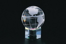 CHH 95331 60 mm Crystal Globe on Hex Base