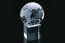 CHH 95520 80 mm Crystal Globe On Square Base
