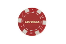 CHH LS2700H-RD 50 PC Red Las Vegas Poker Chips