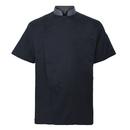 TopTie Unisex Short Sleeve Chef Coat Jacket Uniform with Gray Collar