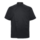 TopTie Unisex Black Chef Coat with Mesh Side Panels
