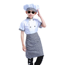 TopTie Child White Long Sleeve / Short Sleeve Chef Coat, Apron and Hat Set
