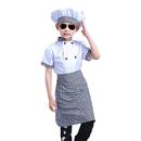 TopTie Child White Long Sleeve / Short Sleeve Chef Coat, Apron and Hat Set