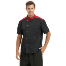 TopTie Black Snap Front Chef Coat