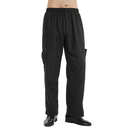 TOPTIE Black Chef Pants With Elastic Waist Drawstring