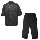 TopTie Unisex Chef Coat Jacket and Cargo Style Pant set