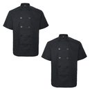 TOPTIE 2 Pack Unisex Short Sleeve Chef Coat Jacket