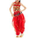 BellyLady Kid Belly Dance Costume, Harem Pants & Halter Top For Halloween
