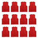 TOPTIE 12 PCS Wholesale Volunteer Vest Supermarket Uniform Vest Clerk Workwear