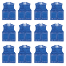 TOPTIE Pack of 12 Unisex Volunteer Mesh Vest Supermarket & Activity Vest Wholesale