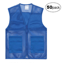 TOPTIE 50 PCS Wholesale Unisex Volunteer Mesh Vest Supermarket & Activity Vest