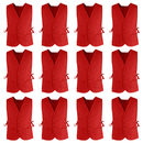 TOPTIE 12 Pcs Unisex Volunteer Cobbler Apron Vest With Pockets & Adjustable ties