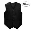 TOPTIE 50 Pcs Unisex Waiter & Bartender Vest, Supermarket Clerk & Volunteer Vest