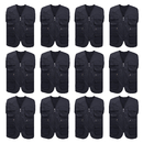 TOPTIE 12 Pcs Supermarket Volunteer Activity Vest, Multi-pocket Fishing Vest