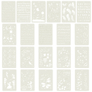 Aspire 21PCS Plastic Drawing Painting Stencil Templates for Kids Crafts, Washable Templates Set