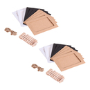 Aspire 20 PCS Wall Decor DIY Kraft Paper Frame with Mini Clothespins and Rope Fits 4