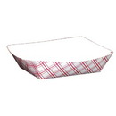 SPECIALTY QUALITY PACKAGING 8702 SQP Food Tray - #200 Red Plaid